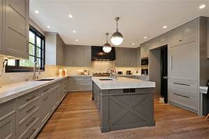 gray kitchen ideas contemporary kitchen artistic With kitchen colors with white cabinets with san francisco 49ers wall art