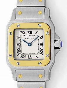 Santos Galbee De Cartier Stahlgold Damen Uhr Neuzustand U2232