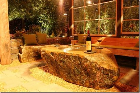 Luxurious Stone Fountain Table For Wine Country Gardens