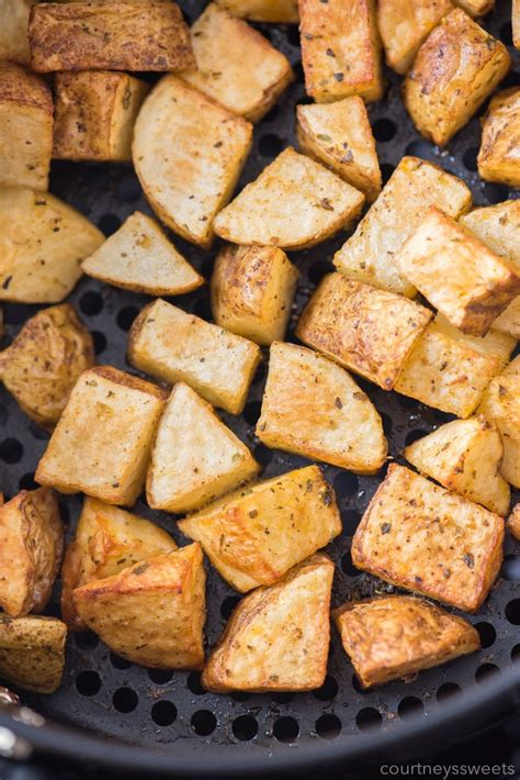 fryer air potatoes roasted recipes fry potato oven seasoned recipe crispy cheese side frier courtneyssweets without fresh dessert using join
