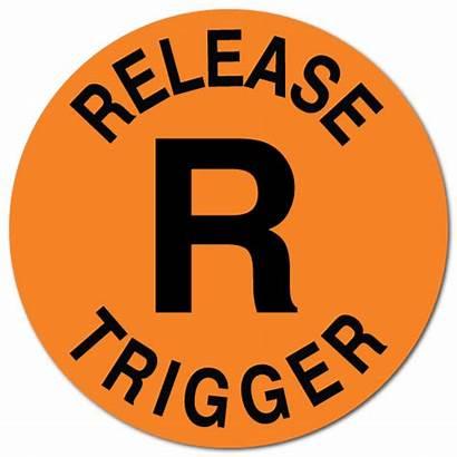 Stickers Circle Orange Fluorescent Release Trigger Thank