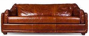 Canapé Vintage Cuir : canap 3 places cuir brun vintage blow ~ Teatrodelosmanantiales.com Idées de Décoration
