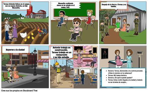 Teresa dialoga con la doctora Storyboard by andres43170