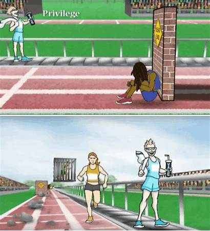 Race Unequal Opportunity Privilege Cartoon Education History