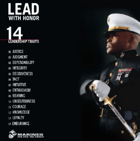 leadership traits lead  honor leadership