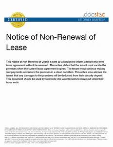 notice of not renewing lease letter