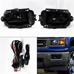 Smoke Front Fog Lights Kit  U0026 Wiring Switch Pair For Chevy