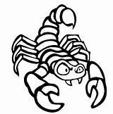 Scorpion Coloring Animals Printable Animal Preschool Sheet Cartoon sketch template
