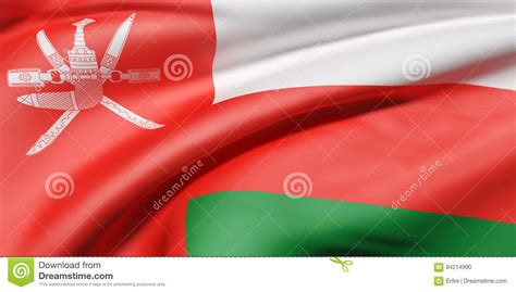 Sultanate Of Oman Flag Stock Illustration Illustration Of