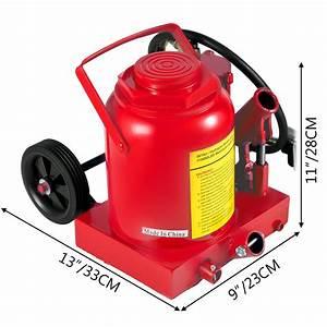 Air Hydraulic Bottle Jack 50 Ton Manual Heavy Duty Auto