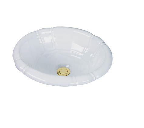 Drop In Bathroom Sink Bowls by Barclay Drop In Bowl White Bathroom Sink 4 709wh