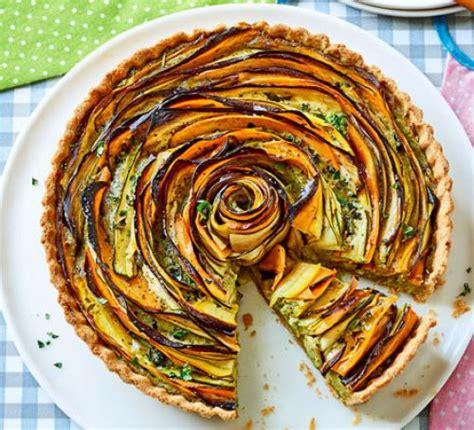 summer vegetable pesto tart recipe food