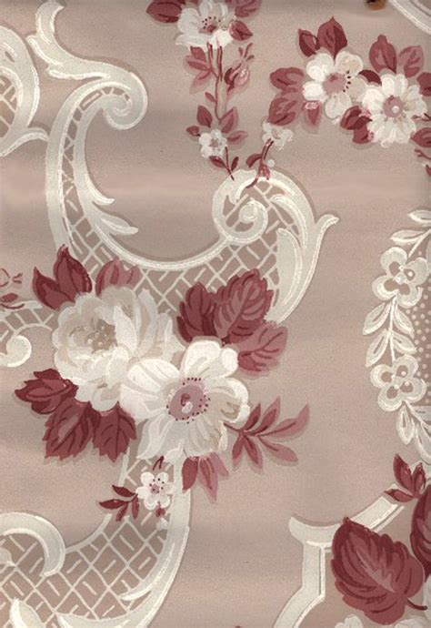 vintage wallpapers cabbage roses