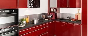 Darty Cuisine équipée : cuisine sur mesure contemporaine finition brillante ~ Premium-room.com Idées de Décoration