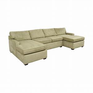 86 off pottery barn pottery barn double chaise light for Pottery barn pb sectional sofa