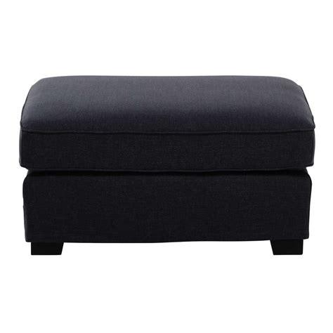 pouf canapé pouf de canapé modulable en tissu monet gris anthracite