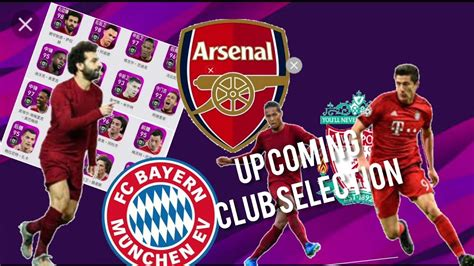 Up comming club selections  bayern liverpool Everton ...