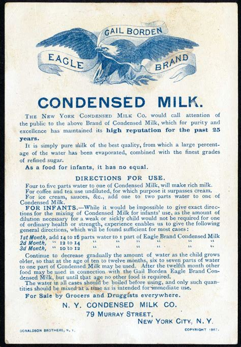 f n evaporated milk eagle brand sweetened condensed milk nutritional info