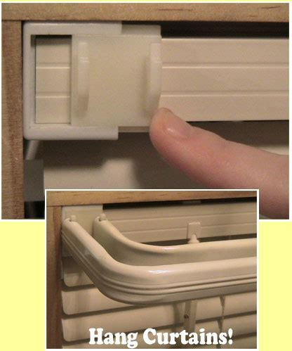 Slide On Curtain Brackets   they simply slide on to the
