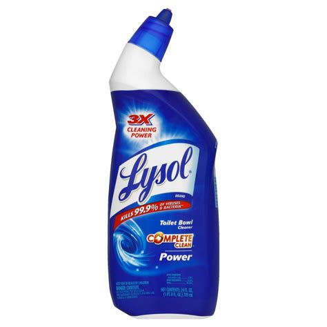 toilet bowl cleaner lysol disinfecting toilet bowl cleaner power 24 fl oz rite aid