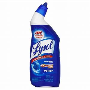 Lysol disinfecting toilet bowl cleaner power 24 fl oz for Lysol power bathroom cleaner
