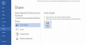 how to share word 2013 files to facebook easily With save documents in cloud