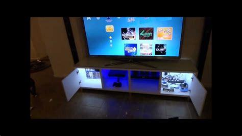 tv cabinet custom led lighting