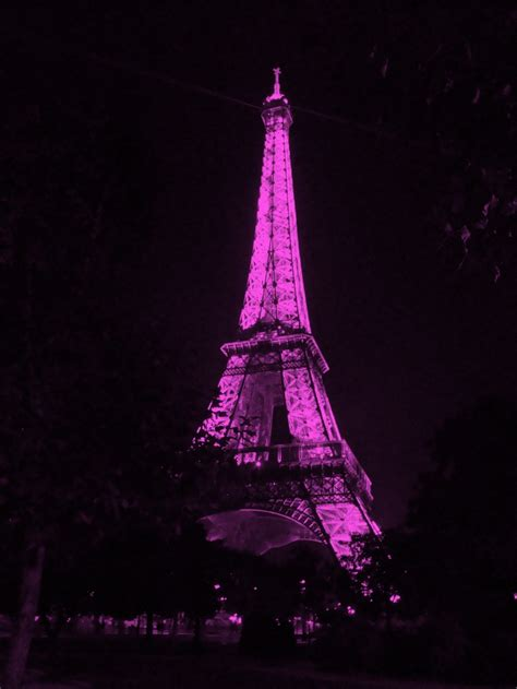 Pink Eiffel Tower At Night  Wwwpixsharkcom Images