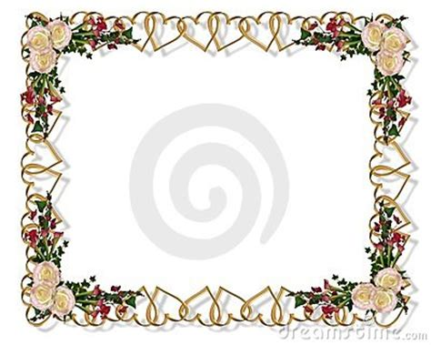 floral border romantic hearts stock images image