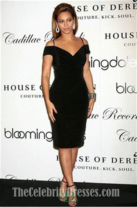 beyonce knee length black   shoulder party cocktail