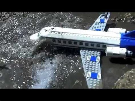 plane für pool lego plane gets a soaked in the mud in sow motion