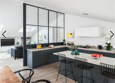 verri鑽e de cuisine stunning cuisine ouverte avec verriere contemporary matkin info matkin info