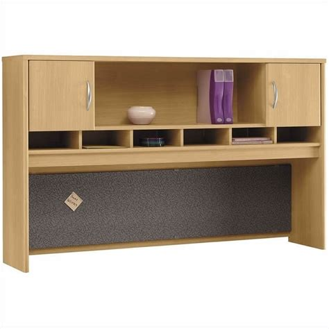 light oak computer desk bush business series c 4 piece corner computer hutch desk