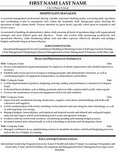 hospitality manager resume sample template With hospitality resume writing services