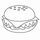 Coloring Cheeseburger Pages Junk Printable Appetizing Burger Colour Burgers Drawing Template Taco Draw Colornimbus Google sketch template