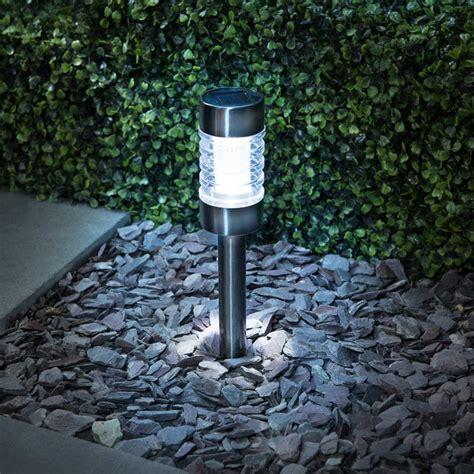 b m gunmetal solar stake light outdoor garden solar