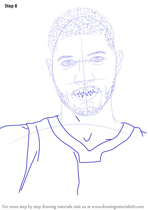 learn   draw paul george basketball players step