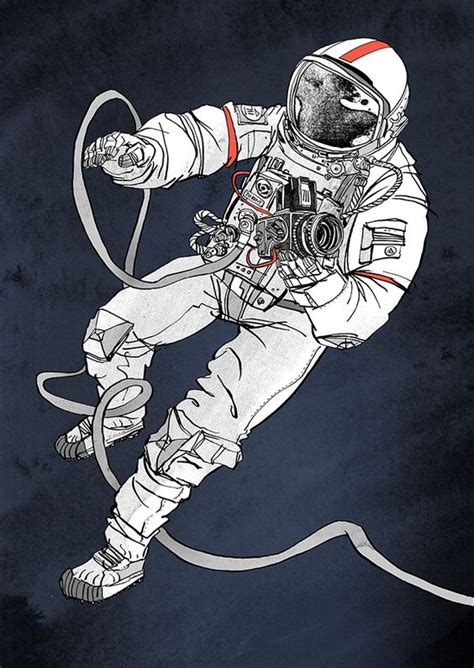 astronaut in space drawing astronaut illustration for 711rent astronaut
