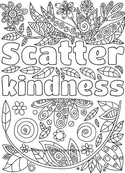 scatter kindness adult coloring page kindness coalition