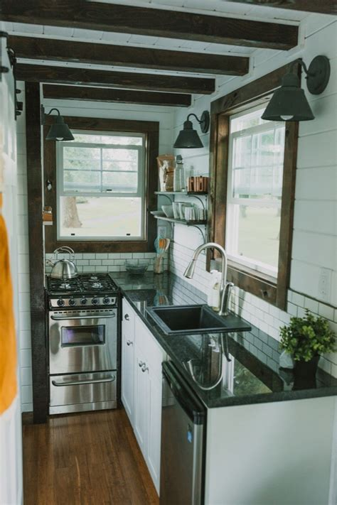 tiny house kitchen cabinets 10 tiny kitchens in tiny houses that are adorably functional 6252