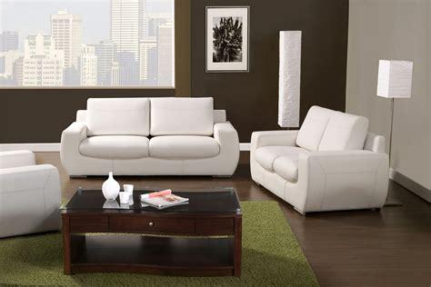 tekir contemporary white living room set  bonded