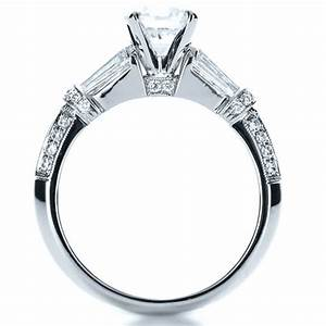 tapered diamond engagement ring 1146 With tapered wedding ring