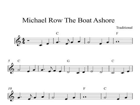 Michael Row The Boat Ashore Translation by Michael Row The Boat Ashore Kindle Sheet Piano Organ
