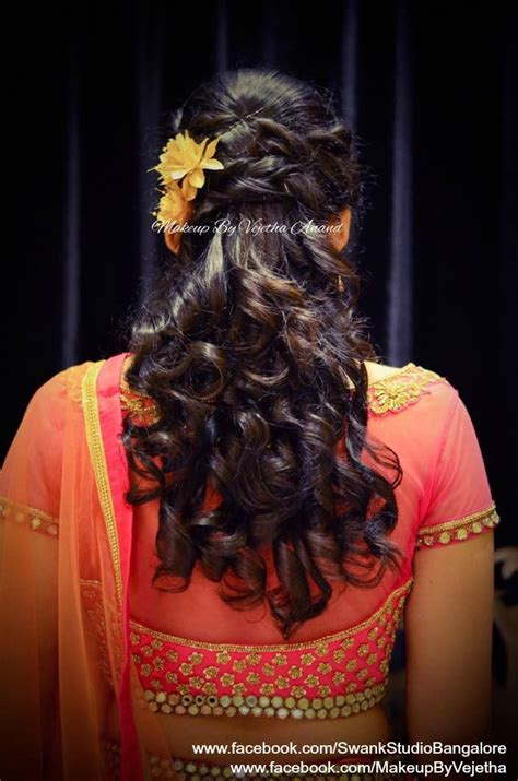 pin  swank studio  indian bridal hairstyles hair