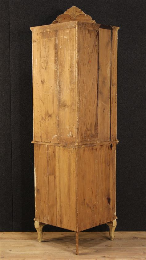 Antique Corner Cupboards For Sale by Antique Venetian Lacquered And Painted Corner Cupboard Of