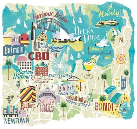 sydney map anna simmons city map illustrator