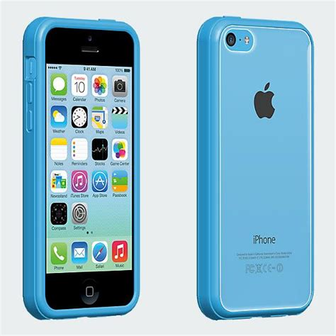 verizon iphone 5c clear shell with blue edge for iphone 5c verizon wireless