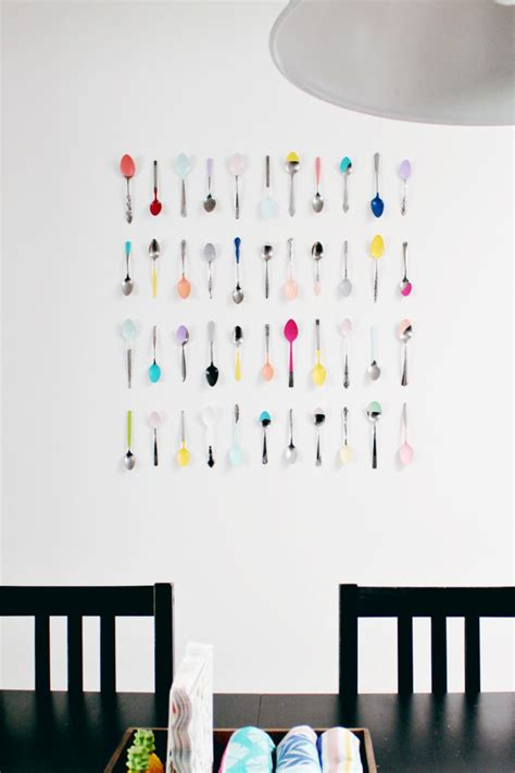 An award for winning a championship or commemorating some other of greater size than the ordinary, esp. Wall Art DIY | Dip Painted Spoons for Your Kitchen | A Joyful Riot