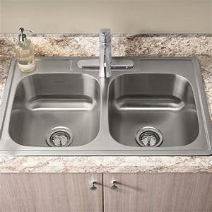 Colony 33x22 Double Bowl Kitchen Sink Kit With Faucet And