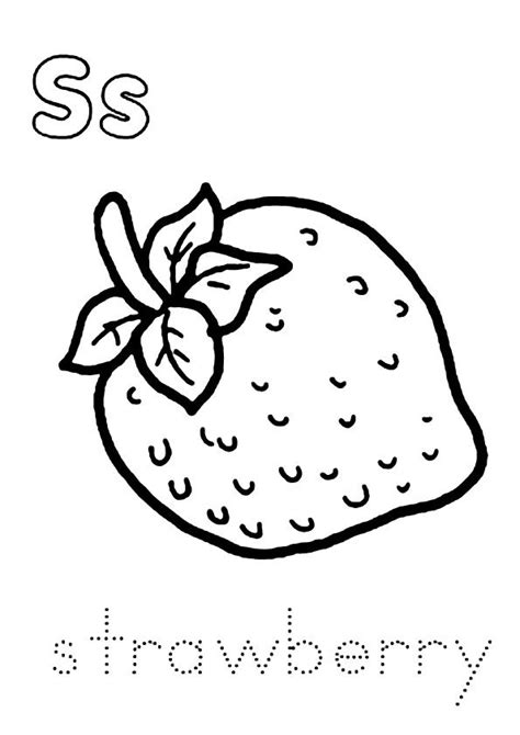 printable strawberry coloring pages strawberry coloring pictures  preschoolers kids